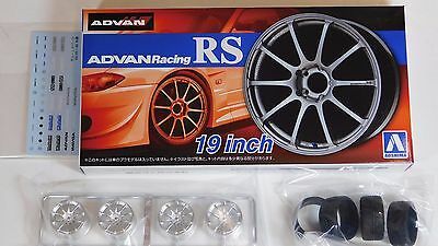03 Aoshima 1//24 Rim /& Tire Set BBS Type DTM 05242
