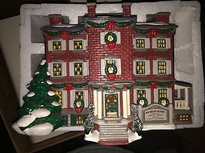 "Department 56 Snow Village ""old Chelsea Mansion"" Ceramic Building"