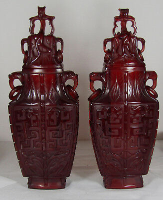 Rare Antique Chinese Carved Wooden Vase Bowl Jade Stand Base Display