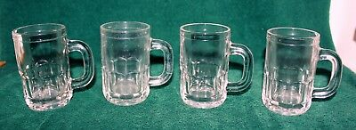 "Lot of 3 Vintage ""BABY ROOT BEER MUGS"", 3 1/8"" tall, heavy glass, Good Condition"