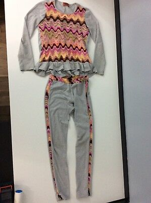 Missoni 2 Piece Outfit Set Leggings & Top Knitted Age 10 Years Vgc