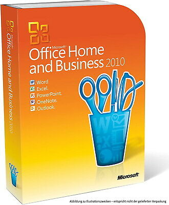 Microsoft Office 2010 Home and Business (Outlook, Word, Excel,.) Vollversion 1PC