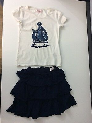 Lanvin Outfit Set Skirt & Top Age 12 Years Gc