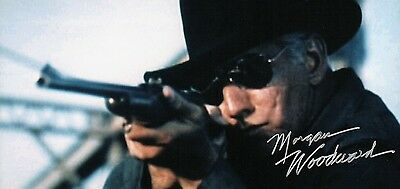 """OFFICIAL WEBSITE Morgan Woodward """"Cool Hand Luke"""" (1967) 8x10 AUTOGRAPHED"""
