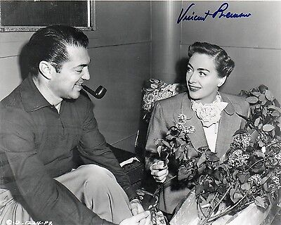 OFFICIAL WEBSITE Vincent Sherman (1906-2006) Joan Crawford 8x10 AUTOGRAPHED