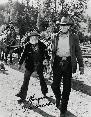 """OFFICIAL WEBISTE Morgan Woodward """"The Wild Country"""" 8x10 AUTOGRAPHED"""