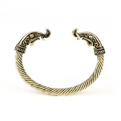 Viking Boat Dragon Head Sacred Arm Ring Bracelet Gold Vikings Ragnar Lothbrok