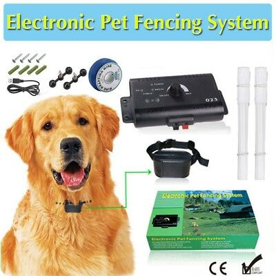 Hidden Dog Pet Containment System Electric Shock BoundaryControl Fence Collar Ku