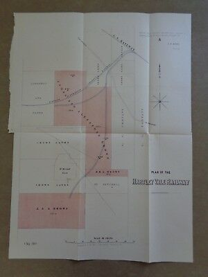 Map / Plan of Hartley Vale Railway 1867 rare copy