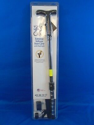 ZAP ZAPCANE Cane 1 Mill Volt Stun Gun Walking Cane + Flashlight & Carrying Case