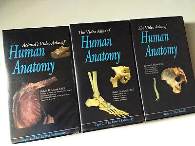 ACLAND\'S VIDEO ATLAS of Human Anatomy VHS tapes 1 thru 6 New ...