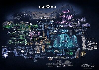 Hollow Knight Map Of Hallownest Poster Print T1175 |A4 A3 A2 A1 A0|