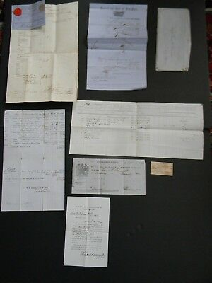 ORIG 1862 CIVIL WAR DOCUMENTS from UNION SHIP ANNA F SCHMIDT SUNK by CSS ALABAMA