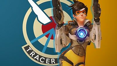 Overwatch Tracer Game Poster Print T1200 |A4 A3 A2 A1 A0|