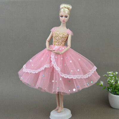Doll Clothes For Barbie Princess Wedding Dress Noble Party Gown For 11.5 Barbie