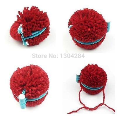4 Sizes Pompom Maker Fluff Ball Weaver Needle DIY Craft Knitting Wool Tool Set