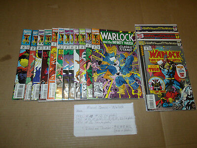 WARLOCK AND THE INFINITY WATCH lot of 15 Marvel Comics (1992-1994) EX/NM