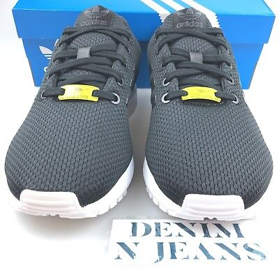 online store e7fa0 4ca35 ADIDAS ZX FLUX J Big Kids Shoes Black M21294 US Size 4 6.5 7
