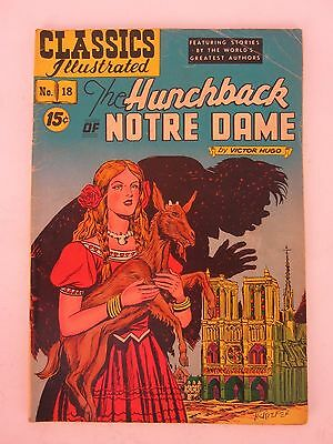 Vintage Classics Illustrated The Hunchback of Notre Dame No. 18