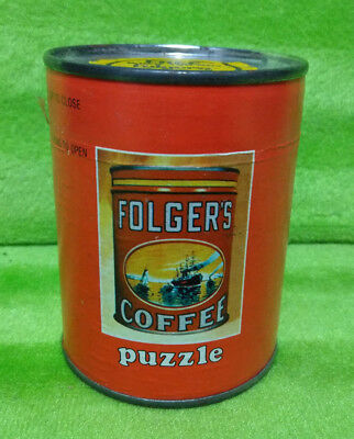 Vintage Folger's Coffee Can Puzzle - NEW NOS