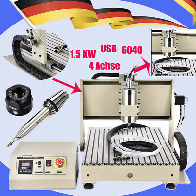 USB 1.5KW 4 Axis 6040 cnc router engraver milling machine engraving Drill Cutter