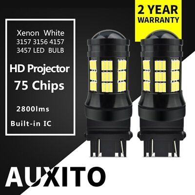 2x LED Reverse Light 3157 4157 Xenon White 55W 2800LM Driving DRL Projector Bulb