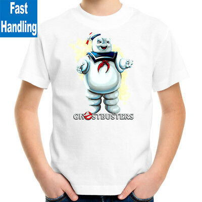 Ghostbusters Mr Stay Puft Kids T-Shirt, Children Retro Funny Movie Tee Size 2-16