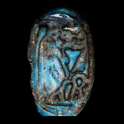 Egyptian faience ring with Tueris bezel, 18th - 19th Dynasty,  y2738