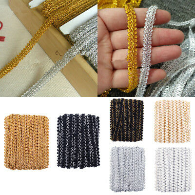 5M Vintage Embroidered Lace Edge Trim Ribbon Wedding Applique DIY Sewing Craft
