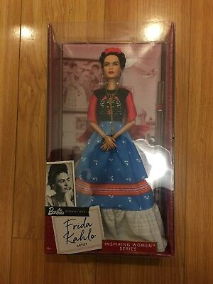 NIB Frida Kahlo Barbie Doll Inspiring Women Series Mexican Artist Khalo IN HAND