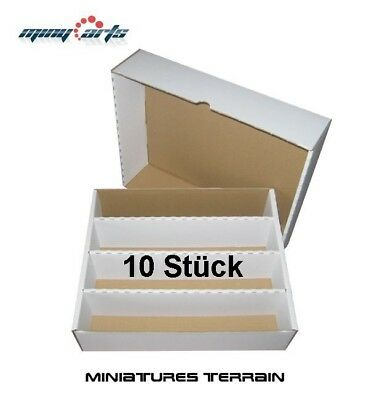 10 x Papp- Box/Cardboard for Approx. 4000 Cards Sorting, Storage, Card Box