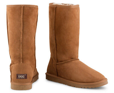 OZWEAR Connection Unisex Classic Long Ugg Boot - Chestnut (S330)