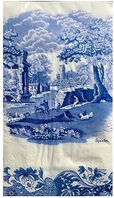 Spode Blue Italian Guest Towels Buffet Paper Napkins 32 Count