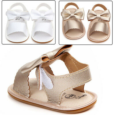 Newborn Toddler For Baby Girls Sandals Prewalker Non-slip PU Leather Shoes Kids