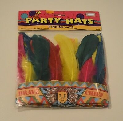 New  Indian Headdress Kids Costume Halloween  4 Party Hats Free Postage