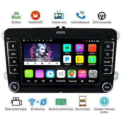 ATOTO A6 Android Car GPS Radio for VW/Skoda - Fast Charge/A6YVW710PB/2xBluetooth