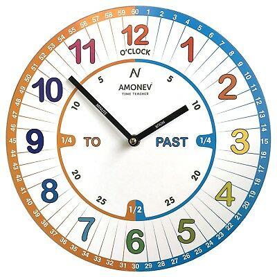 Amonev VS1 Time Teacher clock Children Wall Clock is a Easy to Read clock