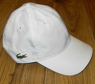 Lacoste Mens White Nylon Cap One Size Adjustable