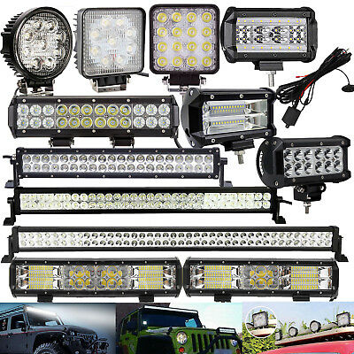 Cree Led Light Bar Spot Flood Combo Work Lamp For Atv Suv Offroad 4WD 4x4 Car