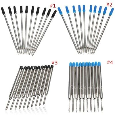 10x Black/Blue Ballpoint Writing Ink Pen Refills Replace For Parker Cross 8513