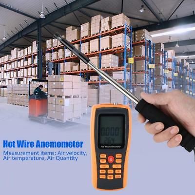 GM8903 Digital Hot Wire Anemometer 30m/s 45℃ Wind Speed /Temperature Meter