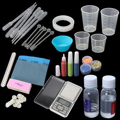 DIY Epoxy Resin Molds Necessary Jewelry Making Tool With Scale Resin AB Glue Kit
