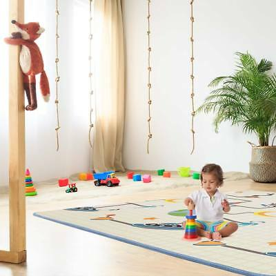 Play mat rug with alphabet two-sided foam carpet for kids educational Baby Vivo