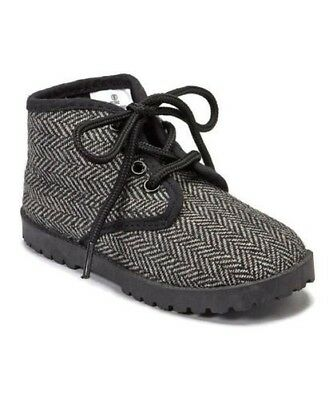 Pitter Patter High-Top Herringbone Shoe (Infant/Toddler/Little Kid)