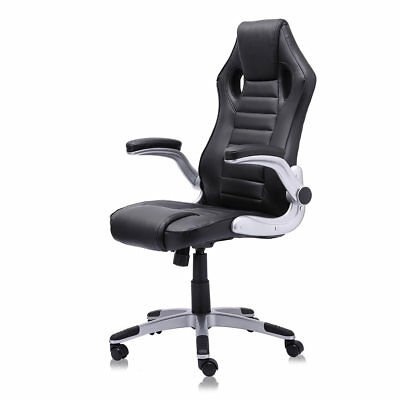 Office Chair Executive Racing PU Computer Adjustable Game Armrest Black MY SIT