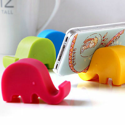 Creative Silicone Elephant Cell Phone Photo Stand Holder For Desk & Cute Gifts