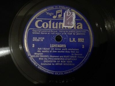 "78tours Helen Traubel - Lohengrin part 1-4 Columbia 12"" LX1026 / LX992"