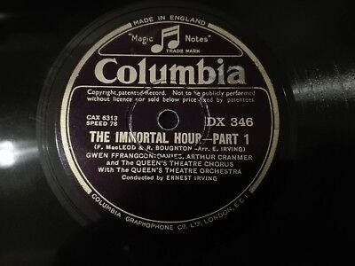 78tours Ffrangcon-Davies,Johnstone-Douglas - The Immortal Hour Columbia DX346/7