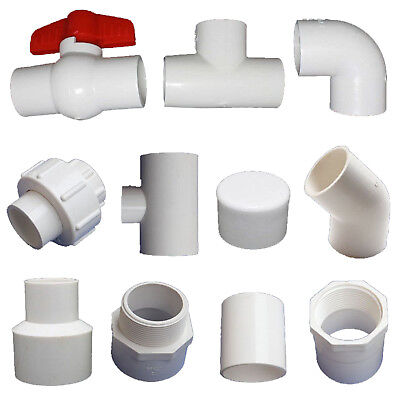20/25/32mm PVC Ball Valve/90° Elbow/End Cap//Tee Connectors Water Pipe Adapter