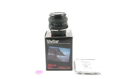 Vivitar Minolta MD 28mm MC Wide Angle with Macro Prime Lens - NEW!